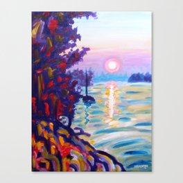 Gold Island Sunset Canvas Print