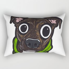 Pitbull Hoodie Rectangular Pillow