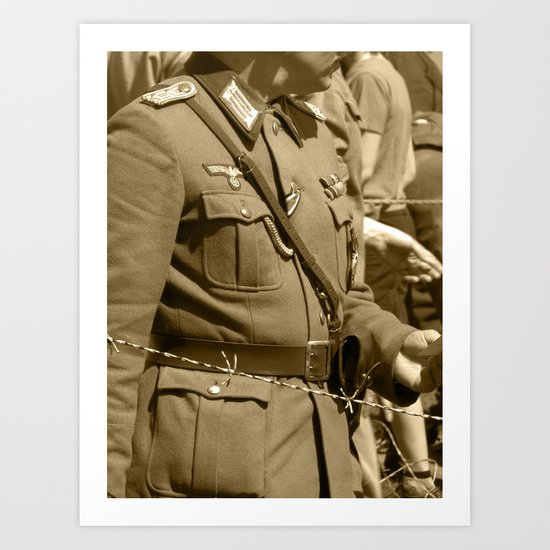 The other side of the wire German Uniform Art Print
