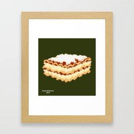 Lasagna Framed Art Print