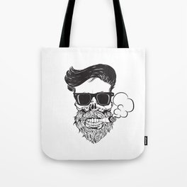 skul with beard Tote Bag