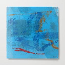 Blue Equation Metal Print