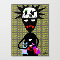 Bully and puppy Canvas Print