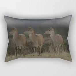 Three Red Deer Rectangular Pillow