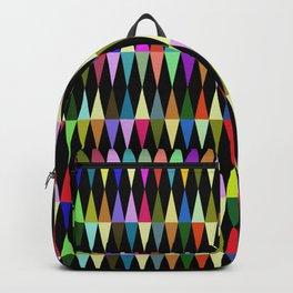 Harlequin loves multicolored rhombus Backpack
