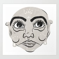 Calm Face Art Print