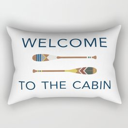 Welcome to the Cabin Paddles Rectangular Pillow