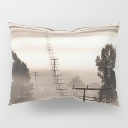 Power lines in the mist Pillow Sham