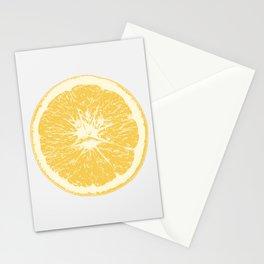 Orange. Citrus. Single. Stationery Cards