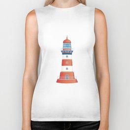 nautical lighthouse Biker Tank