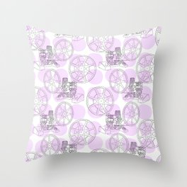 Analog Projection Throw Pillow