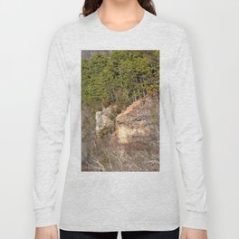 Climbing Up Sparrowhawk Mountain above the Illinois River, No. 3 of 8 Long Sleeve T-shirt