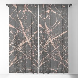 Copper Splatter 091 Sheer Curtain