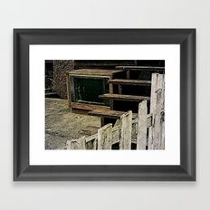 Television Is Not Real Life Framed Art Print