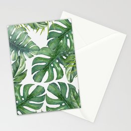 Monstera Leaves Stationery Cards