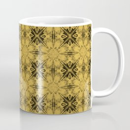 Spicy Mustard Floral Geometric Coffee Mug