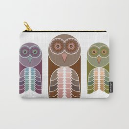 Owl With Kaleidoscope Eyes Carry-All Pouch