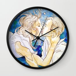 underwater kiss Wall Clock