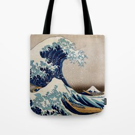 Under the Great Wave by Hokusai Tote Bag