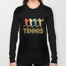 Tennis Player Retro Pop Art Graphic Long Sleeve T-shirt