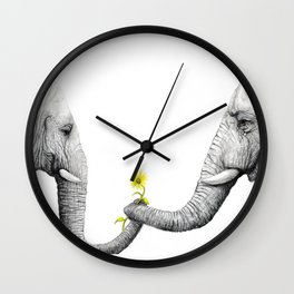 """""""Up Close You Are More Wrinkly Than I Remembered"""" Wall Clock"""