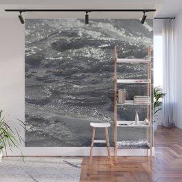 Watercolor Ice 09, Windswept Frozen Lake Wall Mural