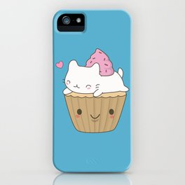 Kawaii Cute Cat Cupcake iPhone Case
