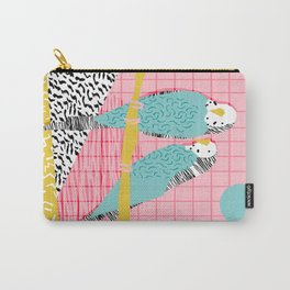 Hottie - throwback retro 1980s 80s style memphis dots bird art neon cool hipster college dorm art Carry-All Pouch