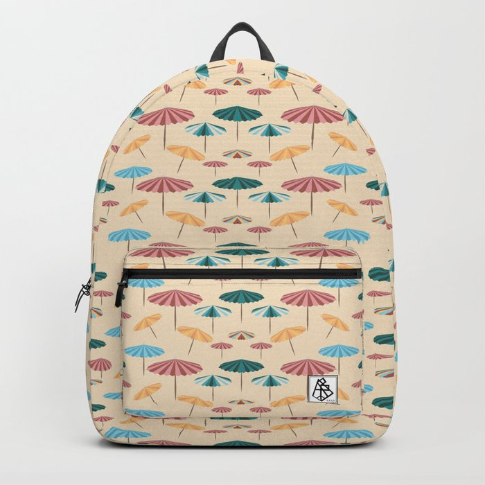 Retro beach parasol Backpack