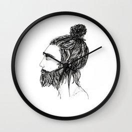 Peaceful Beard Man Wall Clock