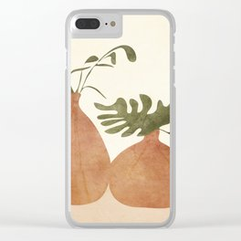 Two Living Vases Clear iPhone Case
