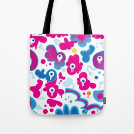 ICU In Pink And Blue Tote Bag