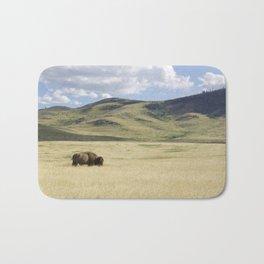 Being Alone is Healthy - Bison on Range Bath Mat