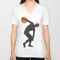 selena V-neck T-shirts featuring Vinylbolus by Sitchko Igor