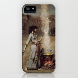 The Magic Circle, John William Waterhouse iPhone Case