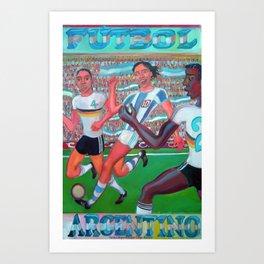 Fútbol argentino por Diego Manuel  Art Print