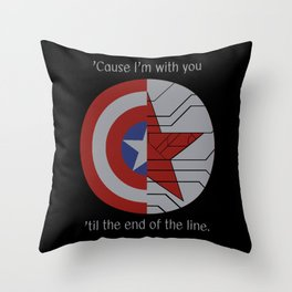 Stucky Shields (With Quote) Throw Pillow