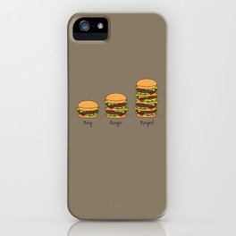 Burger explained. Burg. Burger. Burgest. iPhone Case