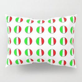 Flag of Italy in a polka dot - Italy,Italia,Italian,Latine,Roma,venezia,venice,mediterreanean,Genoa, Pillow Sham