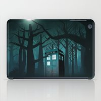 quidditch iPad Cases featuring Tardis in the Forest of The Night by neutrone
