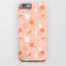 Coral Bubbles (with a hint of mint) iPhone 6s Slim Case