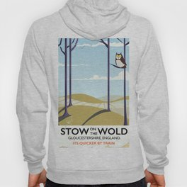 stow on the wold vintage travel poster Hoody