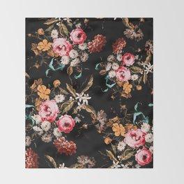 Midnight Garden IV Throw Blanket