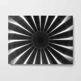 Gray Kaleidoscope Art 9 Metal Print