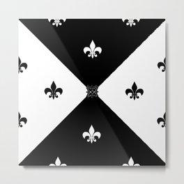 Art contemporain, noir et blanc. Metal Print