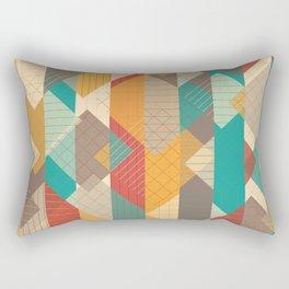 Geometric Geek Pattern - Squares, Stripes, Grids Rectangular Pillow