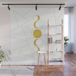 Golden moon phases Wall Mural