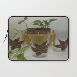 Coleus Plant (Hand-painted set of three glasses) Laptop Sleeve