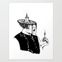 cigarette Art Prints featuring cigarette by Caroline Vitelli GOODIES
