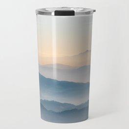 Fog layers, hills and mountains Travel Mug